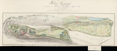 Le château d'Epinal : Plan général du château de Monsieur Doublat, par Hog…