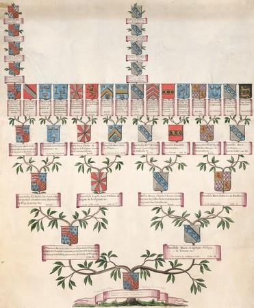 Arbre généalogique de Marie Louise Victoire Comtesse d'Argenteuil LE BASCLE