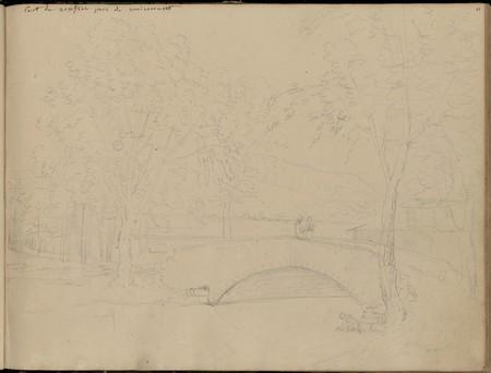 Pont de sentier près de Remiremont