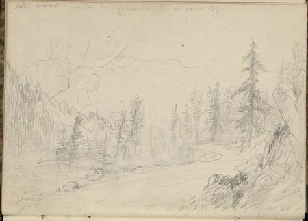 Soleil couchant, bassin de Gérardmer, 11 août 1851