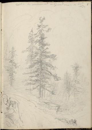 Route de Remiremont à Gérardmer, 11 août 1851