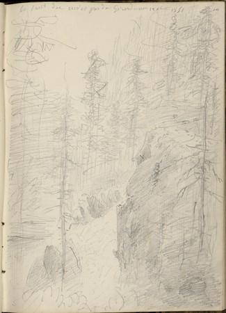 Le Saut des cuves près de Gérardmer, 12 août 1851