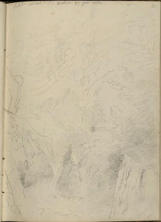 Petite cascade de Tendon, 27 juin 1852