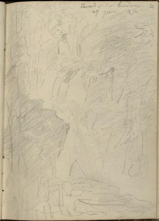 Cascade de Tendon, 27 juin 1852