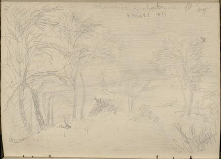 Chemin de Chantraine effet de neige, 4 mars 1853
