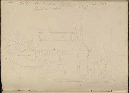Maison Bertelot Côte Champion effet de neige glaçons sur toits, 2 mars 1853
