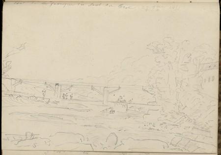 Pont de la fabrique du Saut du Broc, 27 septembre 1855