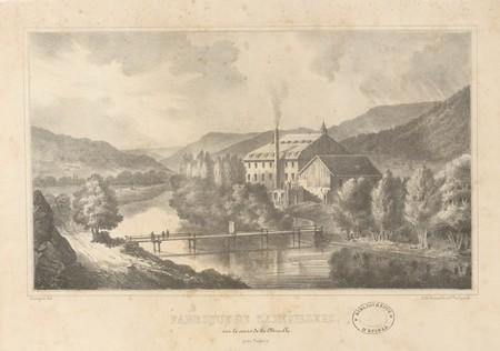 Fabrique de Zainvillers près de Vagney (sur le cours de la Moselle)