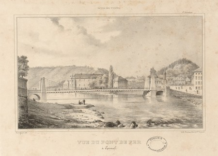 Vue du pont de fer (à Épinal)