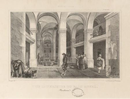 Vue intérieure du bain royal (Plombières)