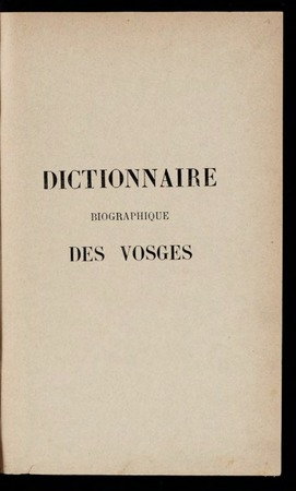 Vosges : dictionnaire, annuaire et album