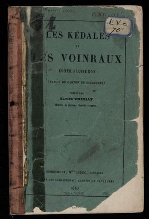 Les Kédales et les Voinraux : conte saussuron (patois du canton de Saulxur…