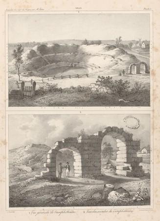 Gran[d]. Vue générale de l'amphithéâtre. Vue des arcades de l'amphithéâtre
