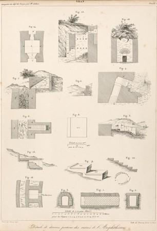 Gran[d]. Détails de diverses portions des ruines de l'Amphithéâtre