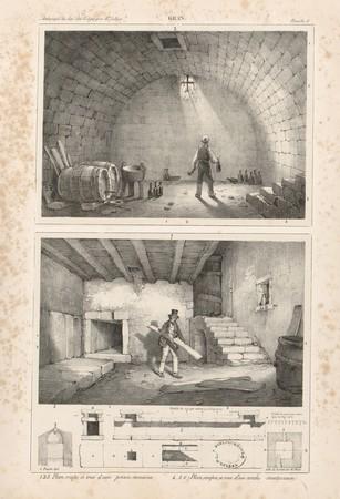 Gran[d]. Plan de coupe et vue d'une prison romaine. Plan, coupes et vue d'…