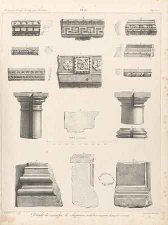 Gran[d]. Détails de corniches, de chapiteaux et de bases trouvés dans les …