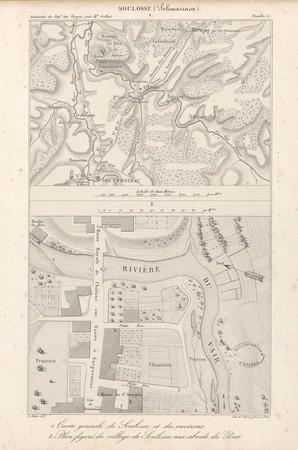 Soulosse. Carte générale de Soulosse et des environs. Plan figuré du villa…