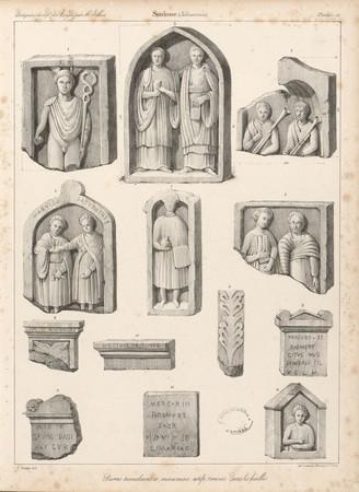Soulosse. Pierres tumulaires et monumen[t]s votifs, trouvés dans les fouil…