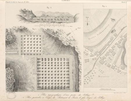 Lamerey. Plan topographique d'une partie du village. Plan particulier et c…