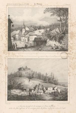 Le Donon. Vue prise du pied de la montagne à Raon-sur-Plaine. Vue du faîte…