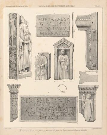Escles, Dombasle, Monthureux, La Moselle. Pierres tumulaires, inscriptions…