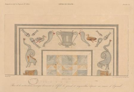 Liffol-le-Grand. Plan de la moitié d'une mosaïque découverte à Liffol-le-G…