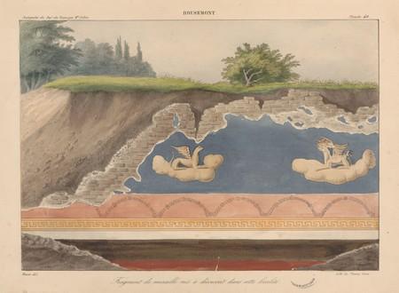 Bousemont. Fragment de muraille mis à découvert dans cette localité