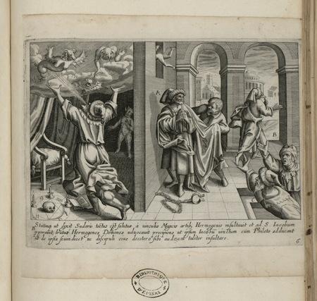 Saint Jacques et le magicien Hermogène