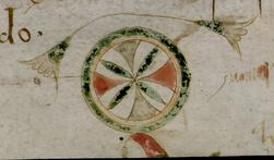 Décor marginal en forme de roue
