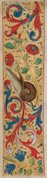 Bandeau marginal avec un escargot