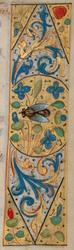 Bandeau marginal avec une abeille
