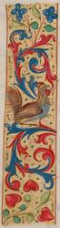 Bandeau marginal avec un coq