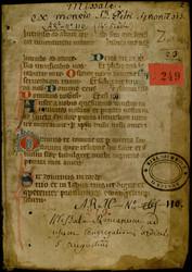 Missel à l'usage de l'ordre de saint Augustin