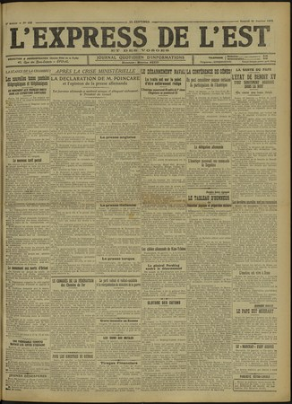 L'Express de l'Est et des Vosges : journal quotidien d'informations