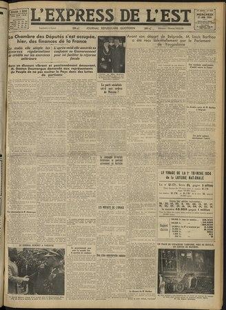 L'Express de l'Est : journal républicain quotidien