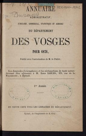 Annuaire administratif, judiciaire, commercial, statistique et agricole du…
