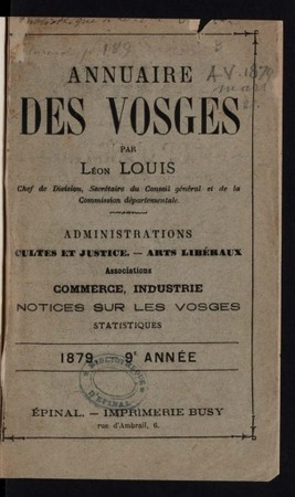 Annuaire administratif, statistique, judiciaire, agricole, commercial et i…