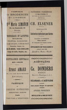 Annuaire général des Vosges pour l'année 1898