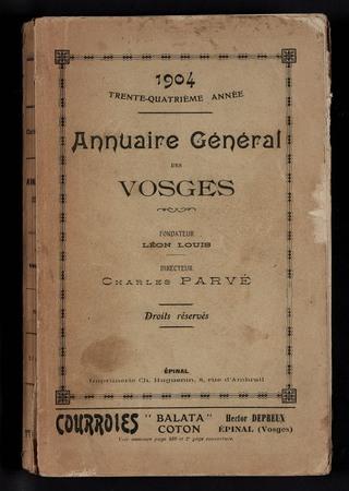 1904 Annuaire général des Vosges