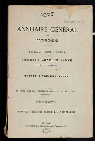 1905 Annuaire général des Vosges