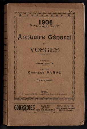 1906 Annuaire général des Vosges