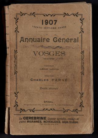 1907 Annuaire général des Vosges