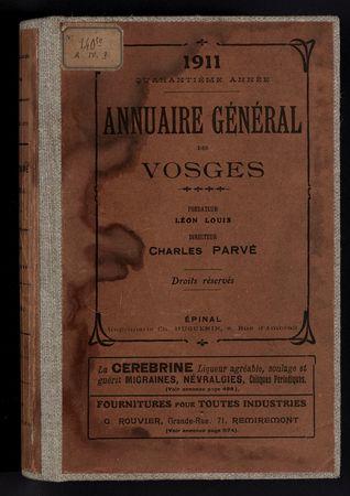 1911 Annuaire général des Vosges