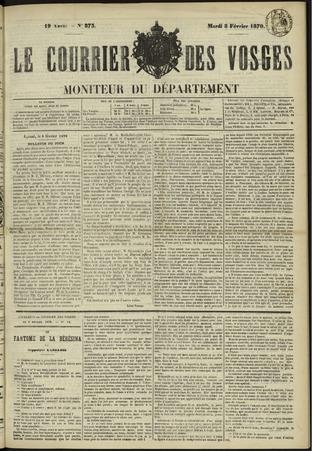 Le Courrier des Vosges : moniteur du département
