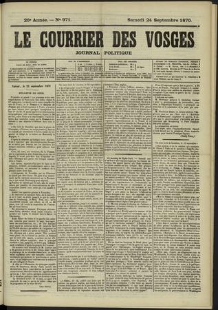 Le Courrier des Vosges : journal politique