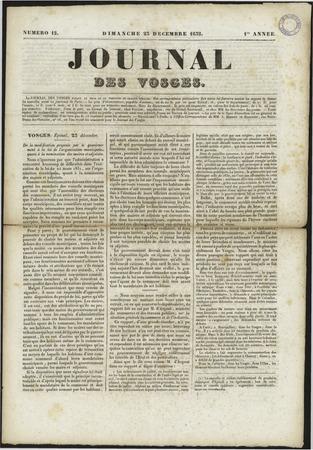 Le Journal des Vosges