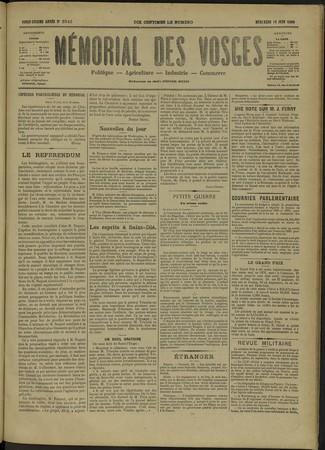 Le Mémorial des Vosges : politique, agriculture, industrie, commerce