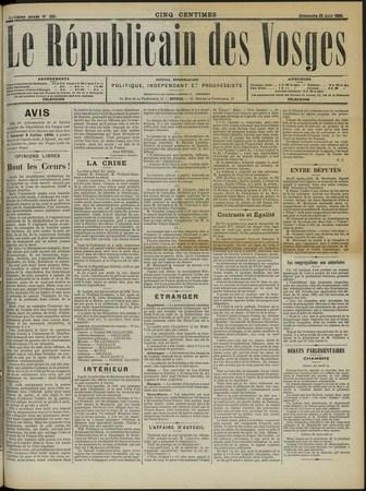 Le Républicain des Vosges, journal hebdomadaire, politique, indépendant et…