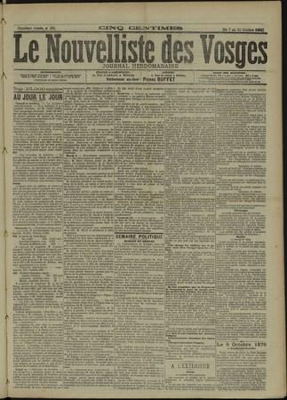Le Nouvelliste des Vosges