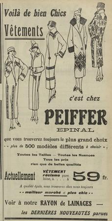Vêtements Peiffer